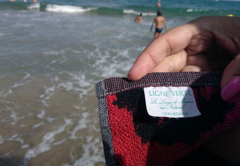 Grand drap de plage pas cher 100% coton